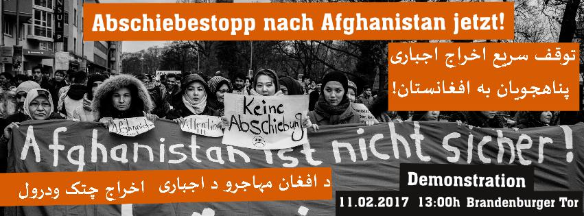 11.02.2017: Demonstration in Berlin gegen Abschiebungen nach Afghanistan